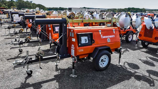 Industrial plant equipment, air compressors, container equipment, snow equipment and generator sets for sale at upcoming auctions