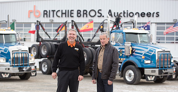 Derek Stamer and Guido Claudepierre, Territory Manager at Ritchie Bros.