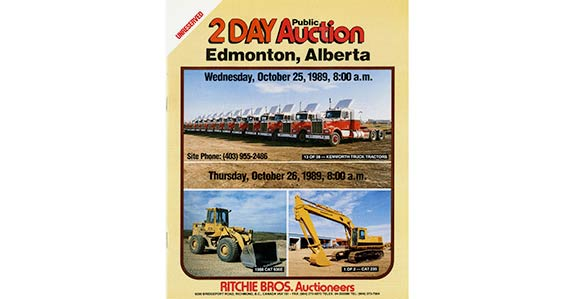 Auction brochure for historic Ritchie Bros. auction