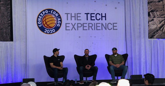 Tech experience panel at CONEXPO