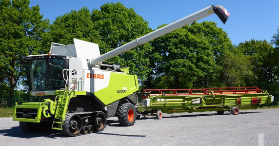 2012 Class lexion Combine sold at Ritchie Bros.