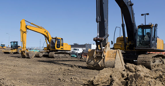 A wide variety of heavy equipment sells at Ritchie Bros. auctions